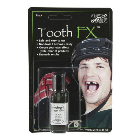 Mehron Black Tooth FX 7ml - Macsound Electronics & Theatrical Supplies