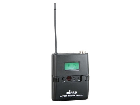 Mipro ACT30T Miniature Body Pack Transmitter with LCD Screen & MU53L Lapel Microphone - Macsound Electronics & Theatrical Supplies