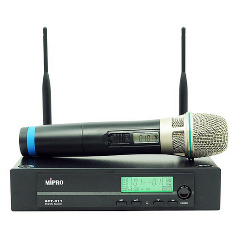 Mipro ACT311-HH Wireless Handheld Microphone System Package 6B Band - Macsound Electronics & Theatrical Supplies