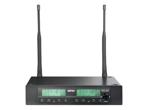 Mipro ACT312 1/2-Rack Dual-Channel Diversity Wireless Receiver - Macsound Electronics & Theatrical Supplies