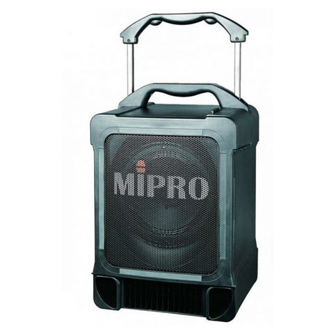 Mipro MA707PAM6 Portable 100w PA System with UHF Wireless Microphone Receiver - Macsound Electronics & Theatrical Supplies