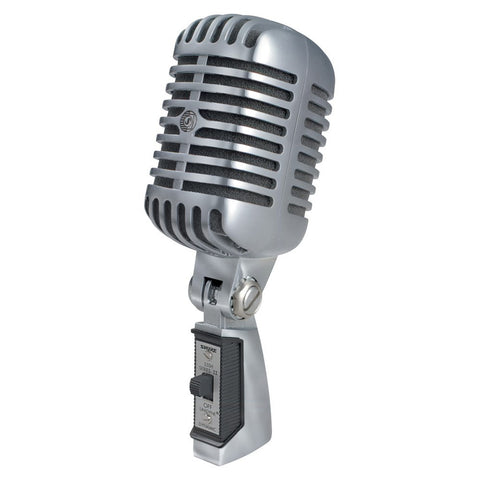 Shure 55SH Series II Microphone Dynamic Lo Z Classic Birdcage Appearance - Macsound Electronics & Theatrical Supplies