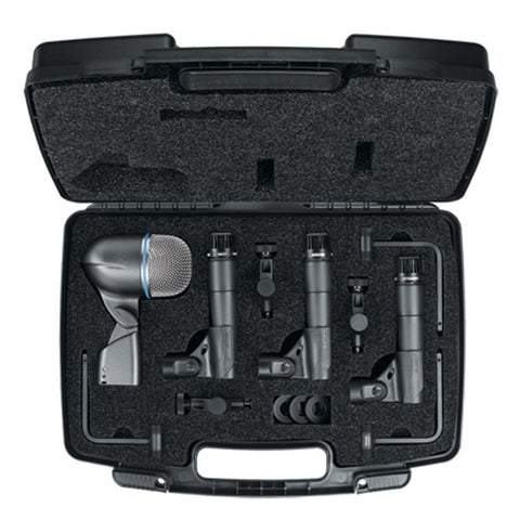 Shure DMK57-52 Drum Microphone Kit - 3x SM57; 1x BETA52A 3x A56D Mounts + Case - Macsound Electronics & Theatrical Supplies
