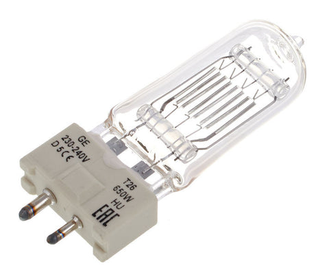 T26/T27 650w 240v Replacement Lamp - Macsound Electronics & Theatrical Supplies