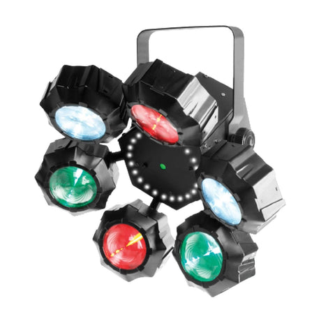 Chauvet DJ BEAMER6FX LED Multi-Effect Light with Strobe & Laser Effect - Macsound Electronics & Theatrical Supplies