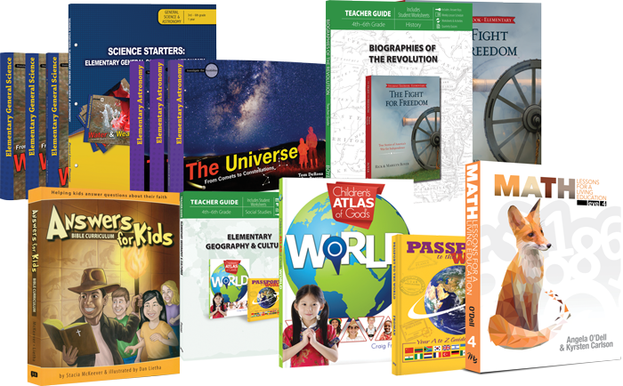 NEW 4th Grade Curriculum Set Science Bible Astronomy Homeschool Answers Genesis