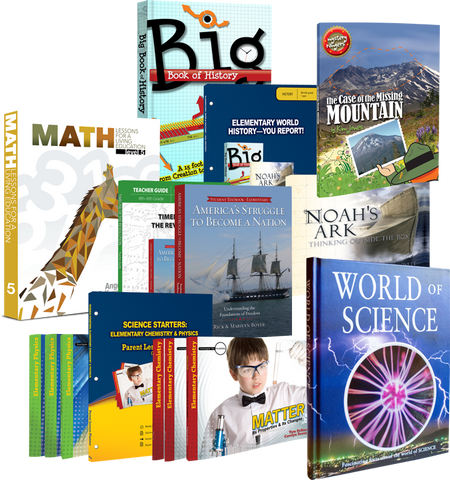 5th Grade Curriculum Set 12 Books, 3 Audio Books and 1 DVD History Science
