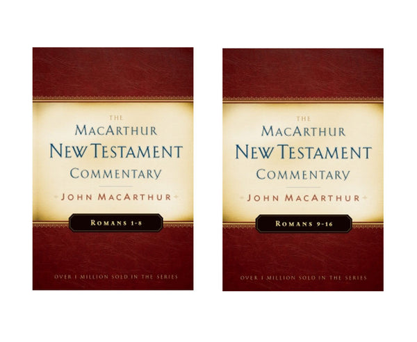Set of Romans 1-8 and Romans 9-16 MacArthur New Testament Commentary