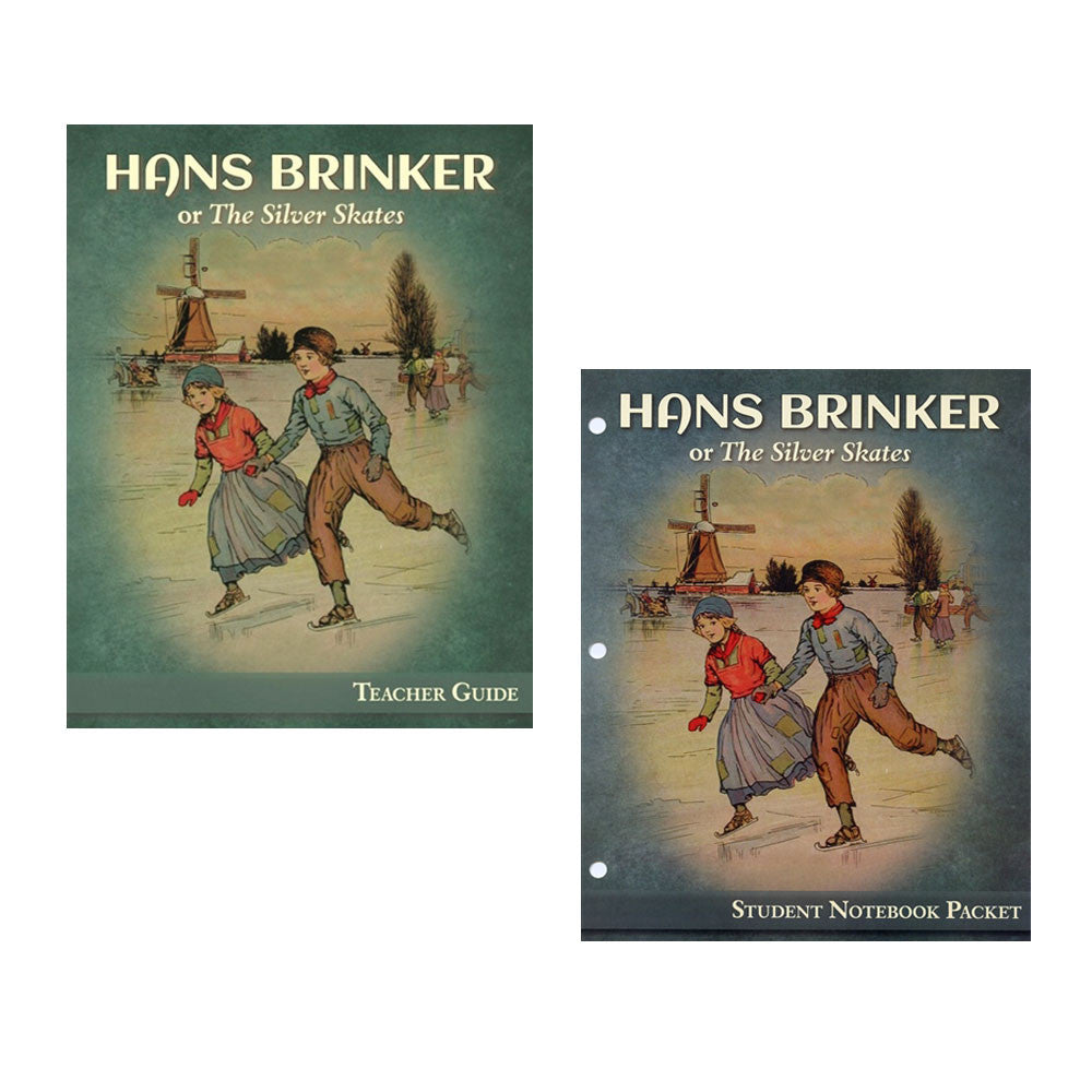Set of Hans Brinker Teacher Guide and Student Notebook Packet