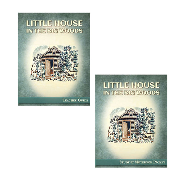 Set of Little House in the Big Woods Student Notebook Packet and Teacher Guide