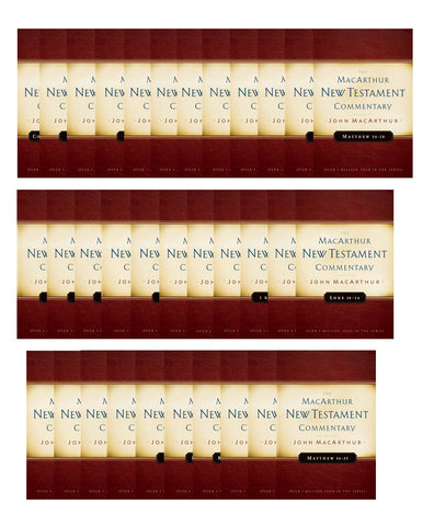 John MacArthur 33 Volume New Testament Commentary Set