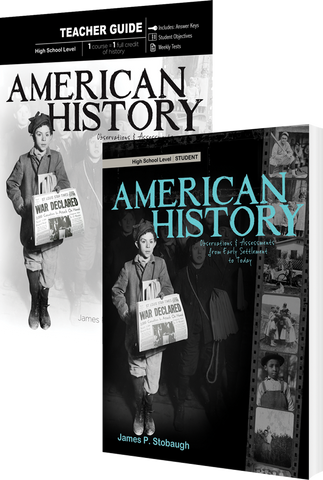 American History Curriculum Pack by James Stobaugh for High School Grade 10 11 12