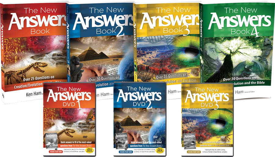 The Complete New Answers PacK Ken Ham NEW 4 Books 3 DVDs