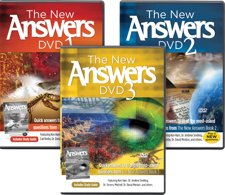The New Answers DVDs 1-3 Pack by Ken Ham