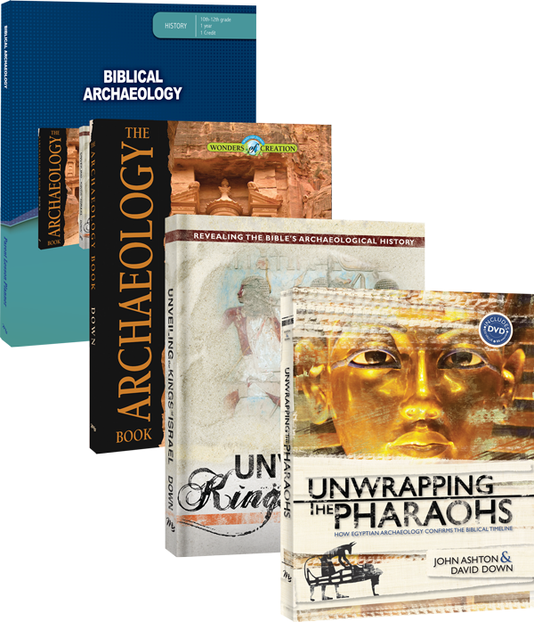 Biblical Archaeology Curriculum Set by David Down and John Ashton Unwrapping Pharaohs Unveiling Kings for Grade 10 11 12