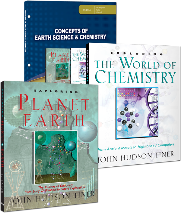 Concepts of Earth Science & Chemistry Curriculum by John Hudson Tiner for Grade 7 8 9