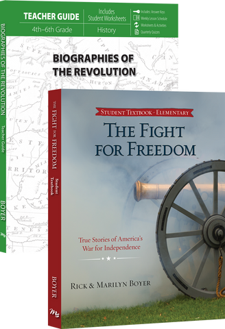 Biographies of the Revolution Set by Rick and Marilyn Boyer