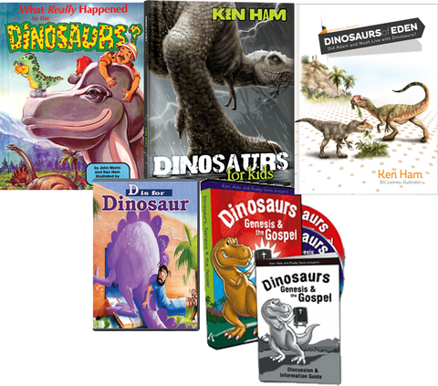 Ken Ham Dinosaur Kids Pack 3 Books 2 DVDs