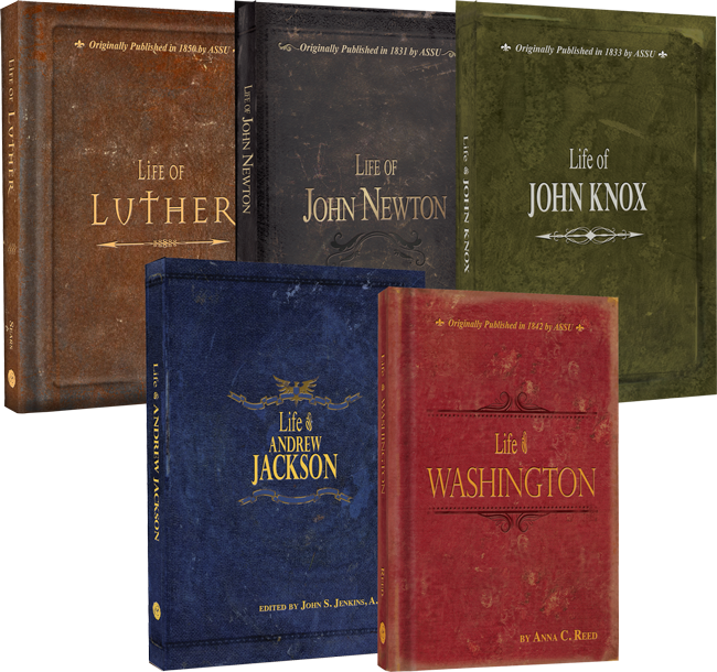 Life of our Heroes 5 Book Set Life of Luther Newton Knox Jackson Washington