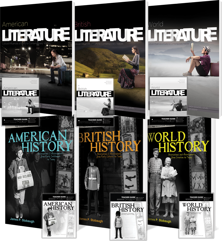 Literature & History Curriculum Package by James Stobaugh for Grades 10 11 12