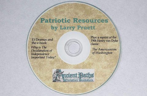 Patriotic Resources pdf on CD-ROM Larry Pruett Drama Skits Scripts Holidays