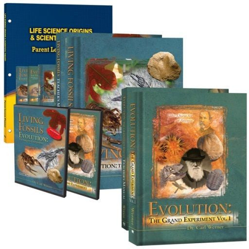 Life Science: Origins & Scientific Theory Curriculum Pack by Dr. Carl Werner 5 Books 2 DVDs for Grade 7 8 9