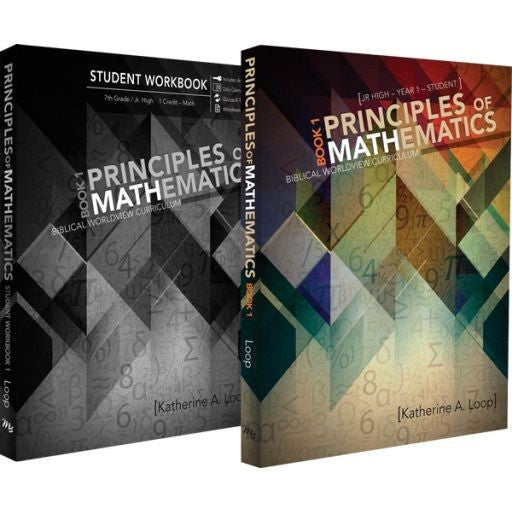 Principles of Mathematics Book 1 by Katherine Loop Curriculum Pack Grade 7 Math