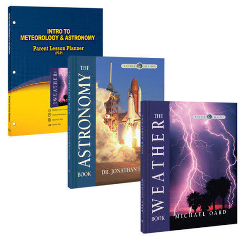 Intro to Meterology & Astronomy Curriculum Pack by Michael Oard and Dr. Jonathan Henry for Jr High Grade 7 8 9