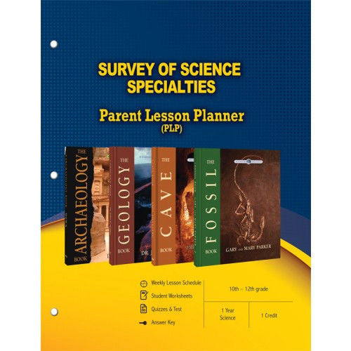 Survey of Science Specialties Curriculum Fossil Cave Geology Archaeology High Grade 10