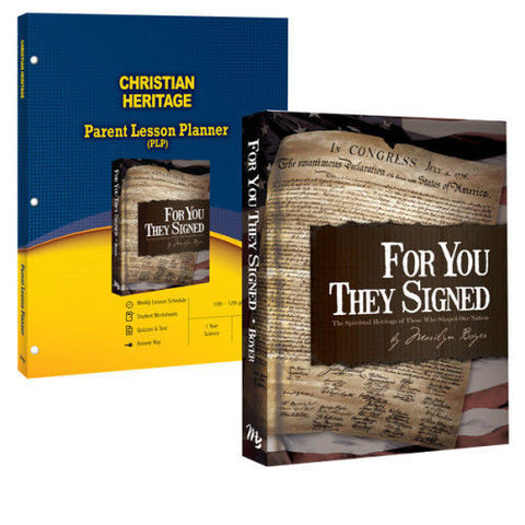Christian Heritage Curriculum Pack - For You They Signed & PLP Founding Fathers