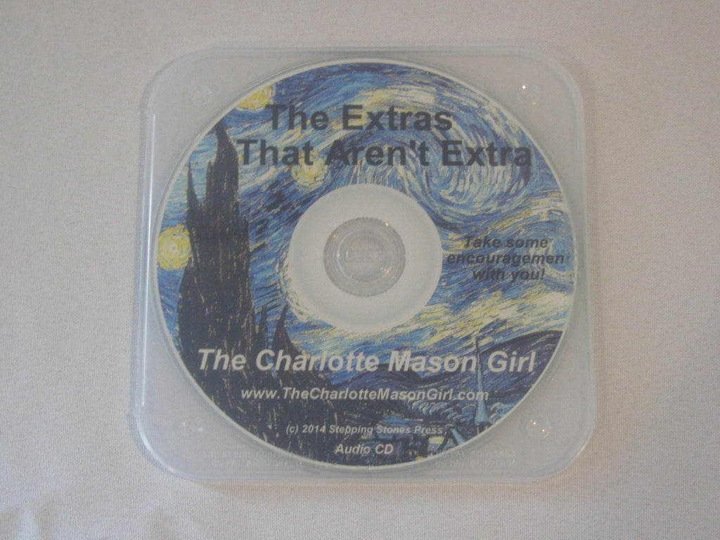 The Extras That Aren't Extra (Audio CD)  by Sue Pruett Charlotte Mason Method