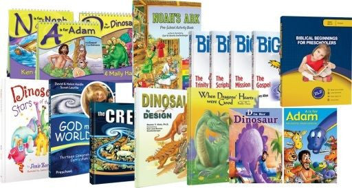 14 Biblical Beginnings Preschool Board Books 2 DVDs by Ken Ham