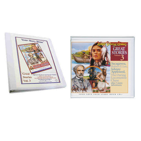 Set of Your Story Hour Activity Book & Great Stories Volume 3 Audio CDs LEE