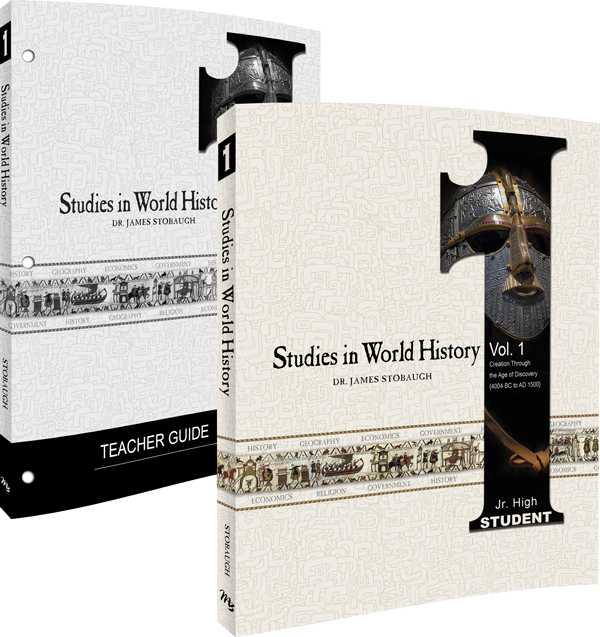 Studies in World History Volume 1 Curriculum Pack by James Stobaugh Jr High Grade 7