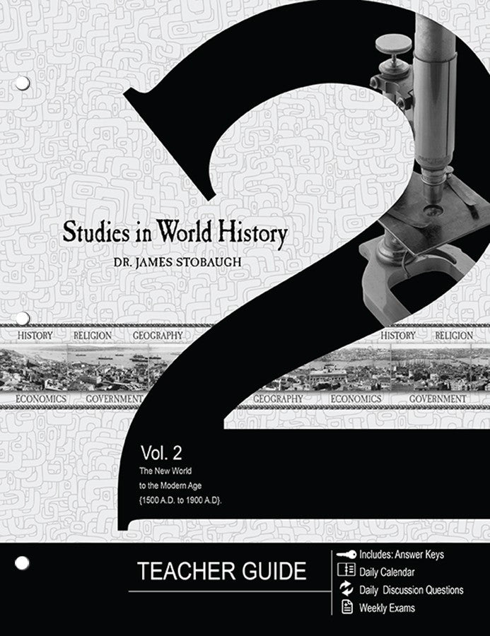 Studies in World History Volume 2 Teacher's Guide by James Stobaugh Jr High Grade 7