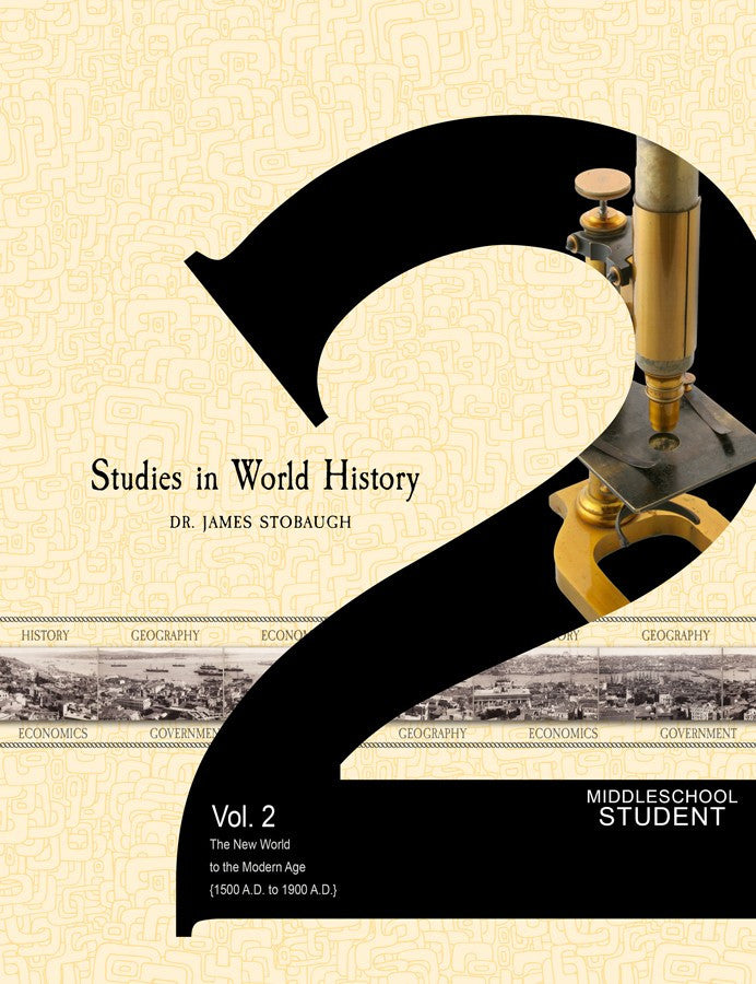 Studies in World History Volume 2 Student Edition by James Stobaugh Jr High Grade 7