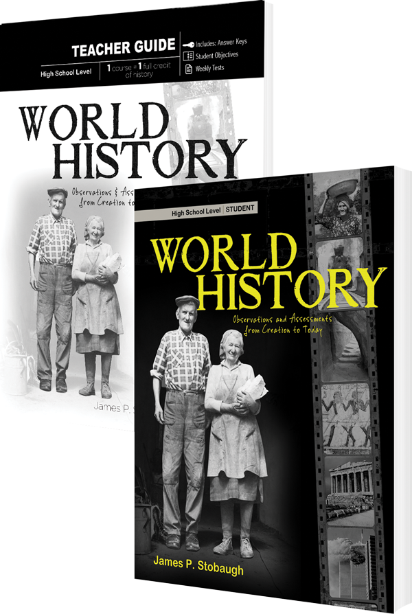 World History Curriculum Pack by James Stobaugh Sr High Grade 10 11 12