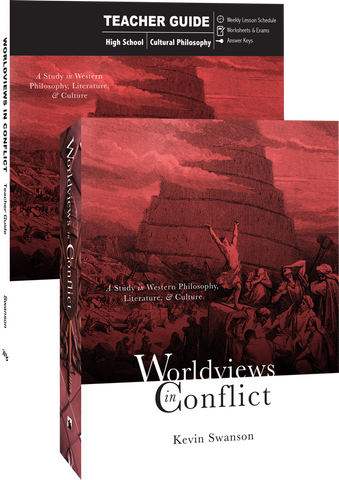 Worldviews in Conflict Set Teacher and Student Guide by Kevin Swanson for Grade 10 11 12