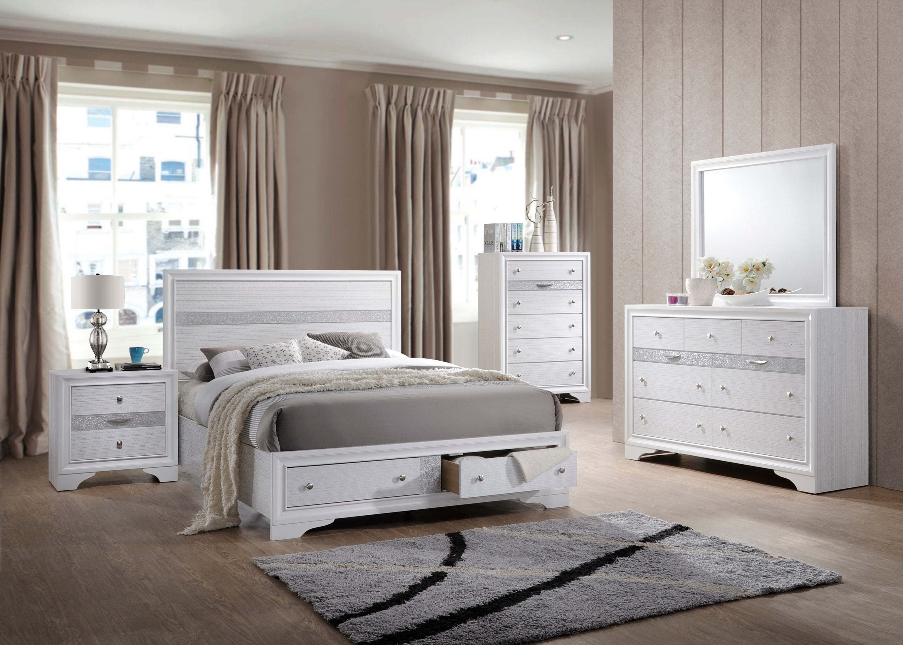 Tokyo Bedroom Collection, White Wood