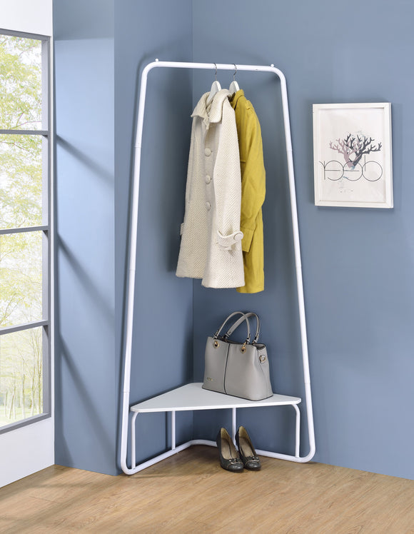 Knorr Garment Rack, White Metal
