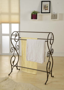 Bradford Freestanding Towel Rack, Pewter Metal