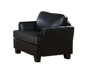 Chantal Chair, Black Faux Leather