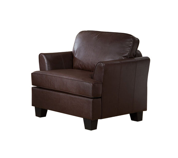 Chantal Chair, Brown Faux Leather