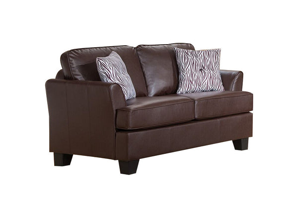 Chantal Loveseat, Brown Faux Leather