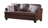 Chantal Sofa, Brown Faux Leather