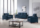 Boutwell 2 Piece Living Room Set, Blue Fabric