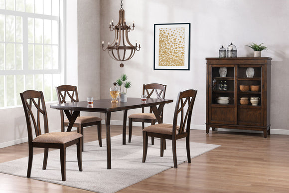 Mindy 6 Piece Dining Set, Cherry Wood