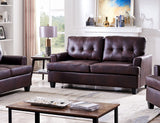Molina Sofa, Brown Faux Leather