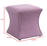 Rylen Ottoman, Purple Fabric