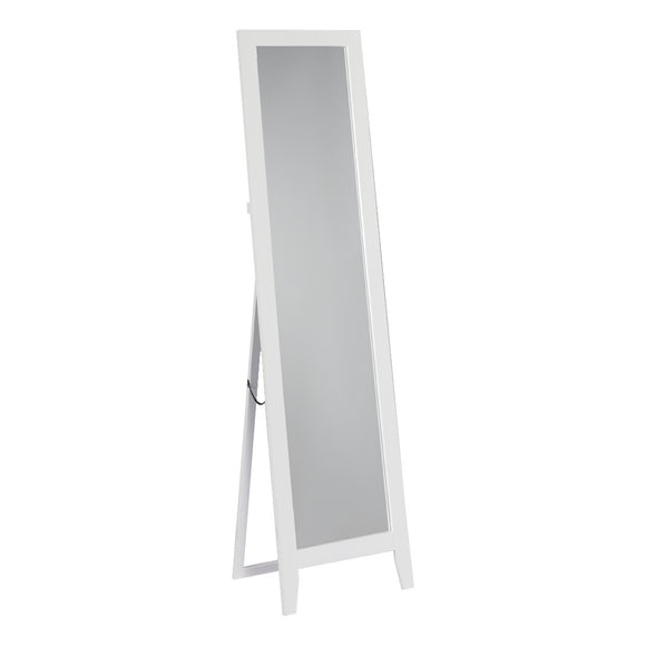 Brown or White Contemporary Wood Frame Rectangle Floor Standing Mirror 15 x 59 - Pilaster Designs